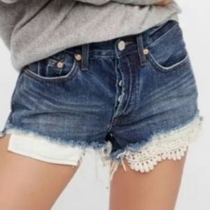 Free People Avery Lace Bootie Shorts